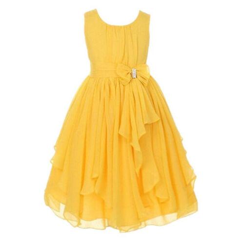 Iovely Kids Flower Girls Ballgown Ballroom Bridesmaid Ball Gown Party Dress