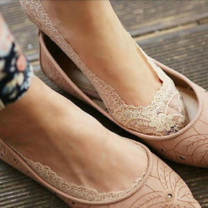 Sweet-Women-Cotton-Lace-Antiskid-Invisible-Liner-No-Show-Low-Cut-Socks-New