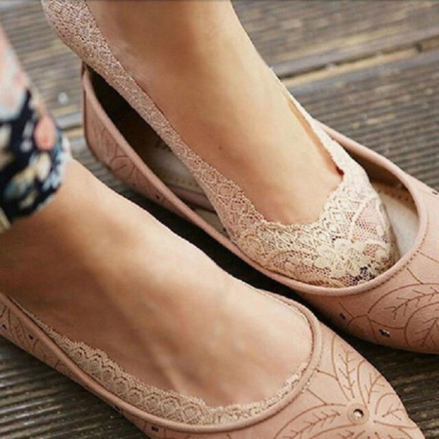 Sweet Women Cotton Lace Antiskid Invisible Liner No Show Low Cut Socks New