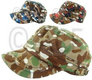 Mens Womens Military Hat Camo Camping Hats Sun Sports Outdoor Army ... 09bb79d1dc7