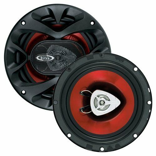 """4 Ohms Boss Ch6520 6.5/"""" 2-Way 500W Car Coaxial Audio 2 Speakers Stereo Red 6 1//2"""