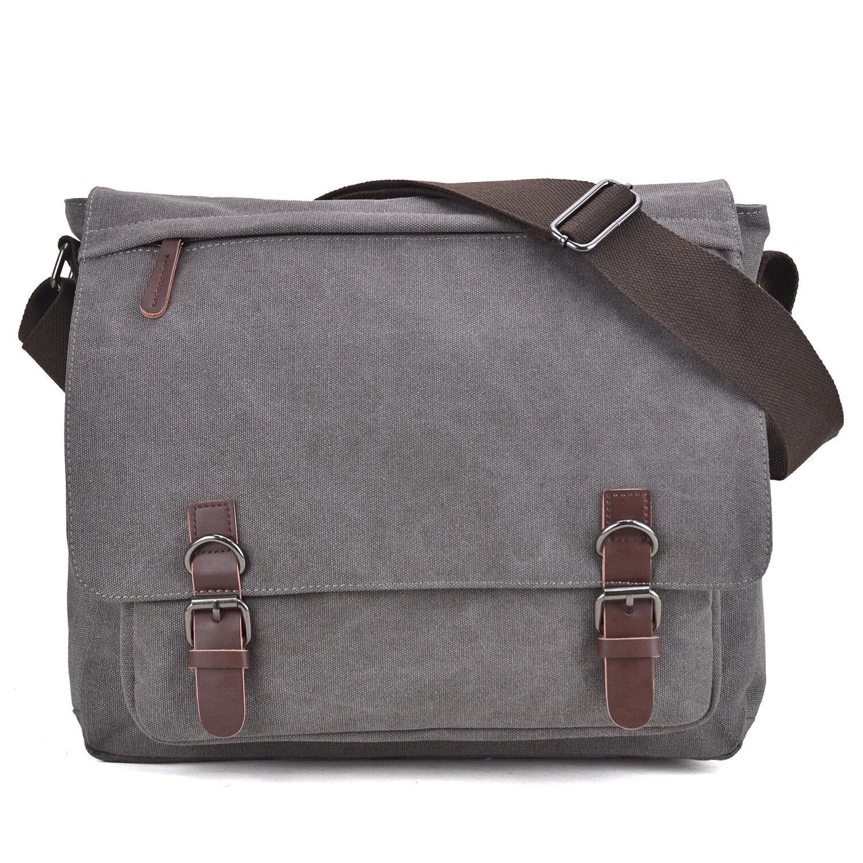 Dasein Men Handbag Vintage Unisex Large Canvas Messenger Bag/Cross body Bags