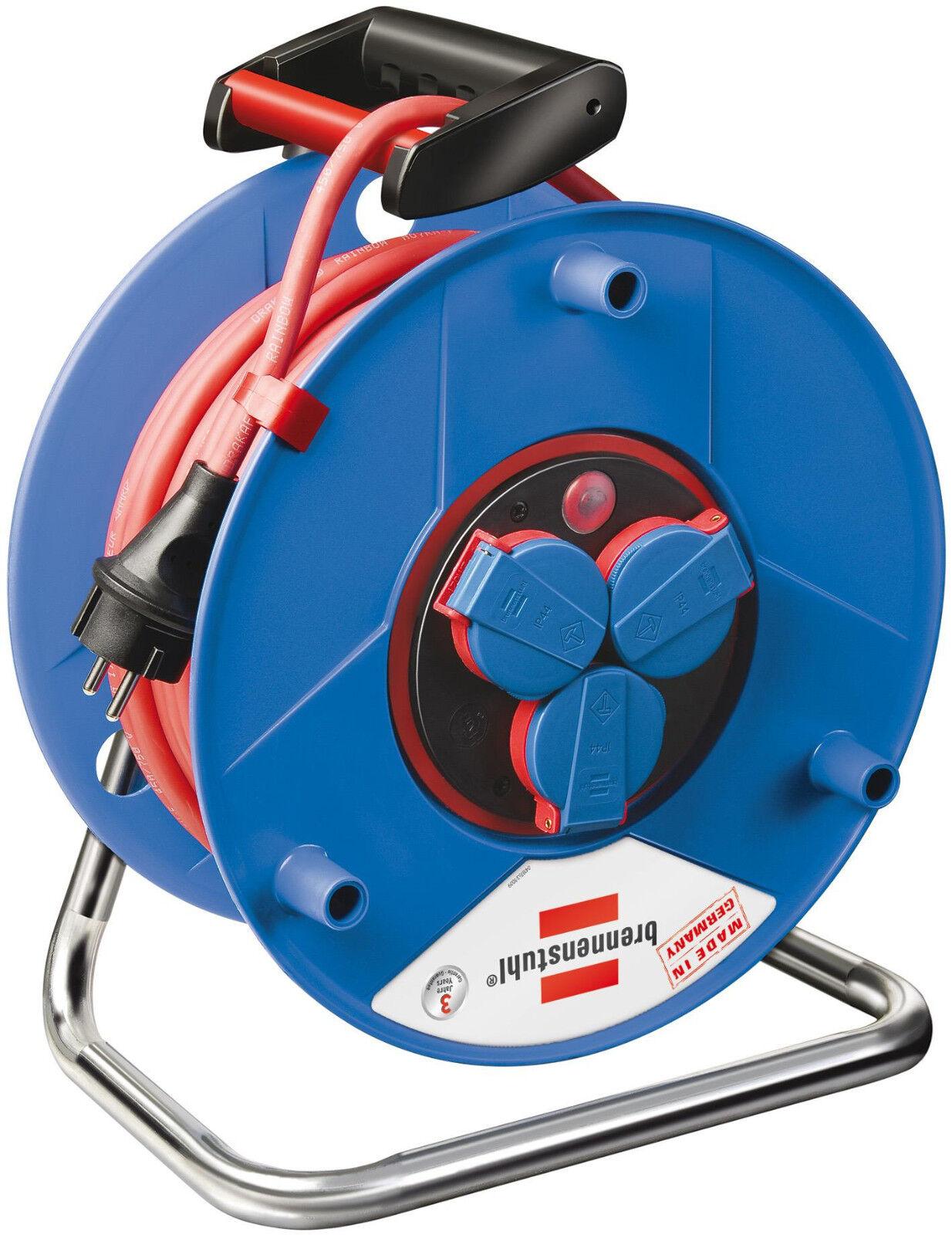 Brennenstuhl Garant® Bretec® IP 44 Gewerbe- Baustellen-Kabeltrommel; 50m; Rot | Bekannt für seine hervorragende Qualität