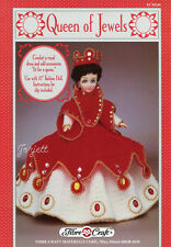 """Queen of Jewels, Fibre-Craft crochet patterns for 15"""" fashion dolls"""