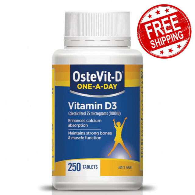 OsteVit-D One-A-Day Children's Vitamin D3 1000iu Strong Muscles 250 Tablets