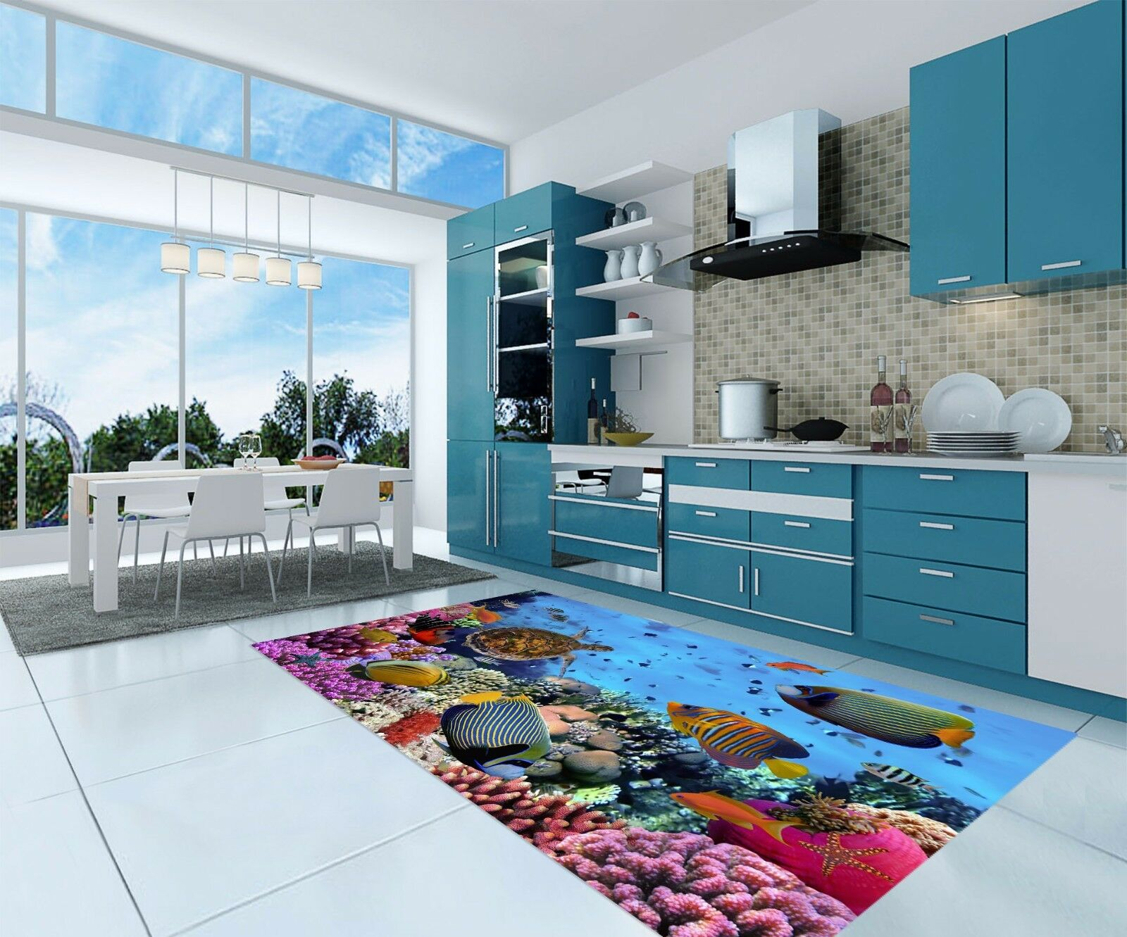 3D Pretty Sea 137 Kitchen Mat Floor Murals Wall Print Wall Deco AJ WALLPAPER AU