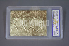 BEATLES ABBEY ROAD Album Cover 23KT Gold Card Sculptured Graded GEM MINT 10