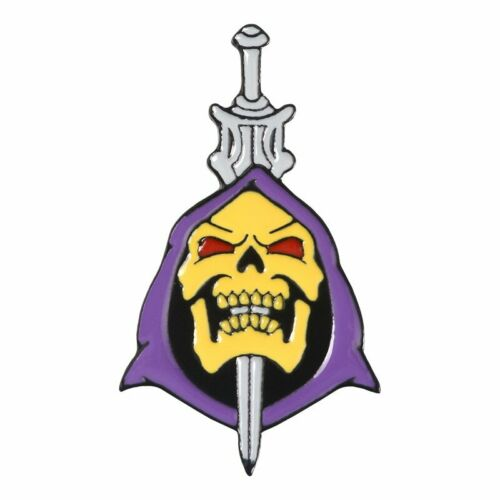 Années 80 squelettor violet capuche He-Man Live Laugh Love Parodie émail Broches Pins