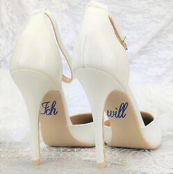 Schuhsticker 'Ich will' – 13 Farben Hochzeit Aufkleber Schuhe Schuhaufkleber