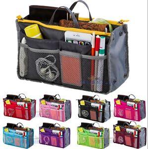 Lady-Women-Insert-Handbag-Bag-in-Bag-Purse-Large-liner-Organizer-Bag-Travel-USA
