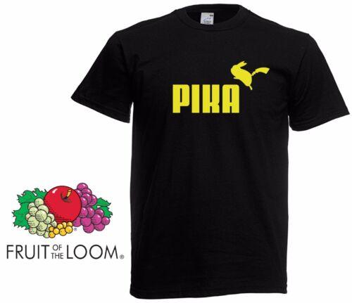 Mens PIKA T Shirt Poke mon Funny Inspired Pika chu Tee Tshirt Funny Retro NEW