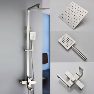 Brushed-Nickel-Wall-Mount-Bathroom-Shower-Faucet-with-Hand-Shower-Mixer-Tub-Tap