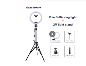 Video-Light-Dimmable-LED-Selfie-Ring-USB-ring-lamp-Photography-Phone-Holder