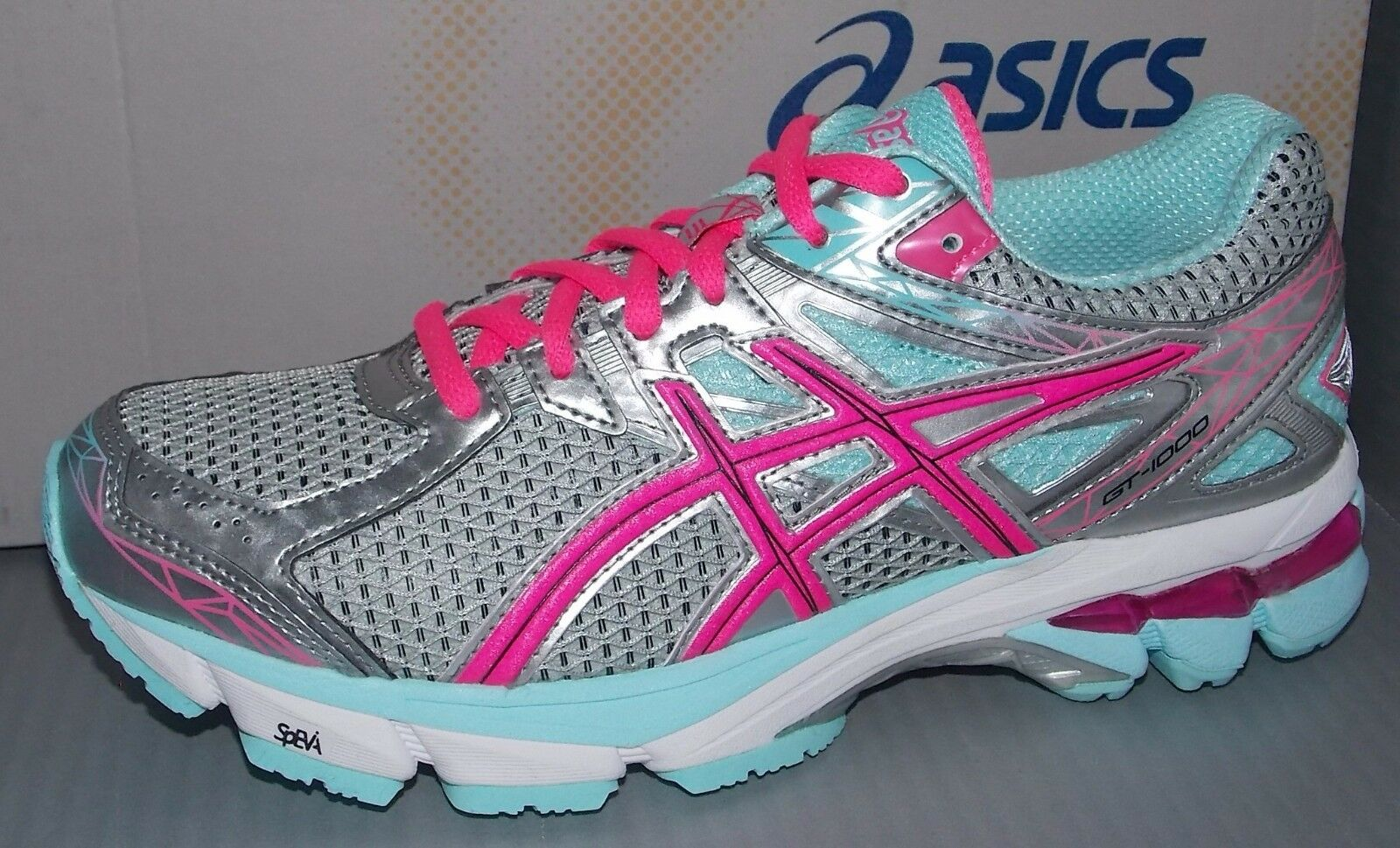 WOMENS ASICS GT - 1000 3 in colors LIGHTNING / HOT PINK / MINT SIZE 6.5 Casual wild