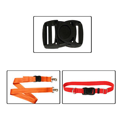 4M*25mm Gurtband mit Schnallen Klippverschluss 5 Paare aus Polypropylen Gurte Schwarz f/ür Rucksack Tasche
