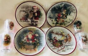 Pottery Barn Kids Santa Plates Tumblers Holiday Christmas