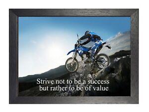 Details About 9 Motocross Inspirational Quote Motivation Print Determination Bike Poster