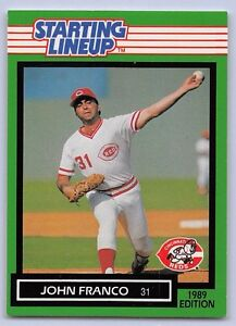 1989  JOHN FRANCO - Kenner Starting Lineup Card - CINCINNATI REDS
