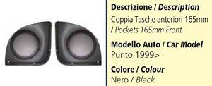 COPPIA-TASCHE-ANTERIORI-PER-FIAT-PUNTO-DAL-1999-AL-2005-165MM-COLORE-NERO