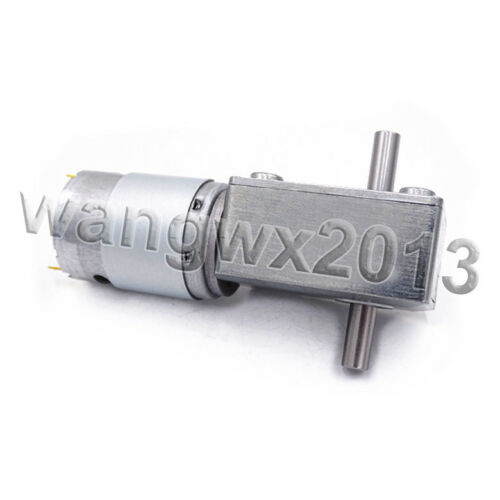DC12V 24V JGY385 Dual Shaft Turbo Worm Speed Reduction Gear Motor with Gearbox