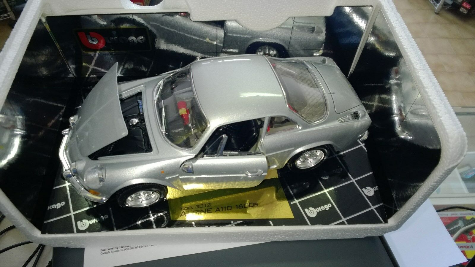BURAGO 1 16 AUTO DIE CAST ALPINE A110 1600S 1971  MADE IN ITALY  ART 3012