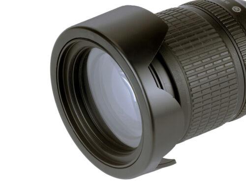 62mm Push on Bead Lock Reversible Flower Petal Lens Hood Protector UK SELLER