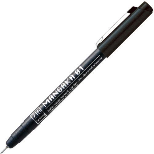 Kuretake ZIG CARTOONIST MANGAKA 0.1mm Marker Pen Choose from 5 colors CNM-01