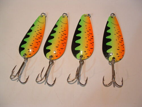 4 Eagle Bay Fire Tiger Fishing Lures 3//4 ounce Pike Muskie Trout Salmon USA MADE
