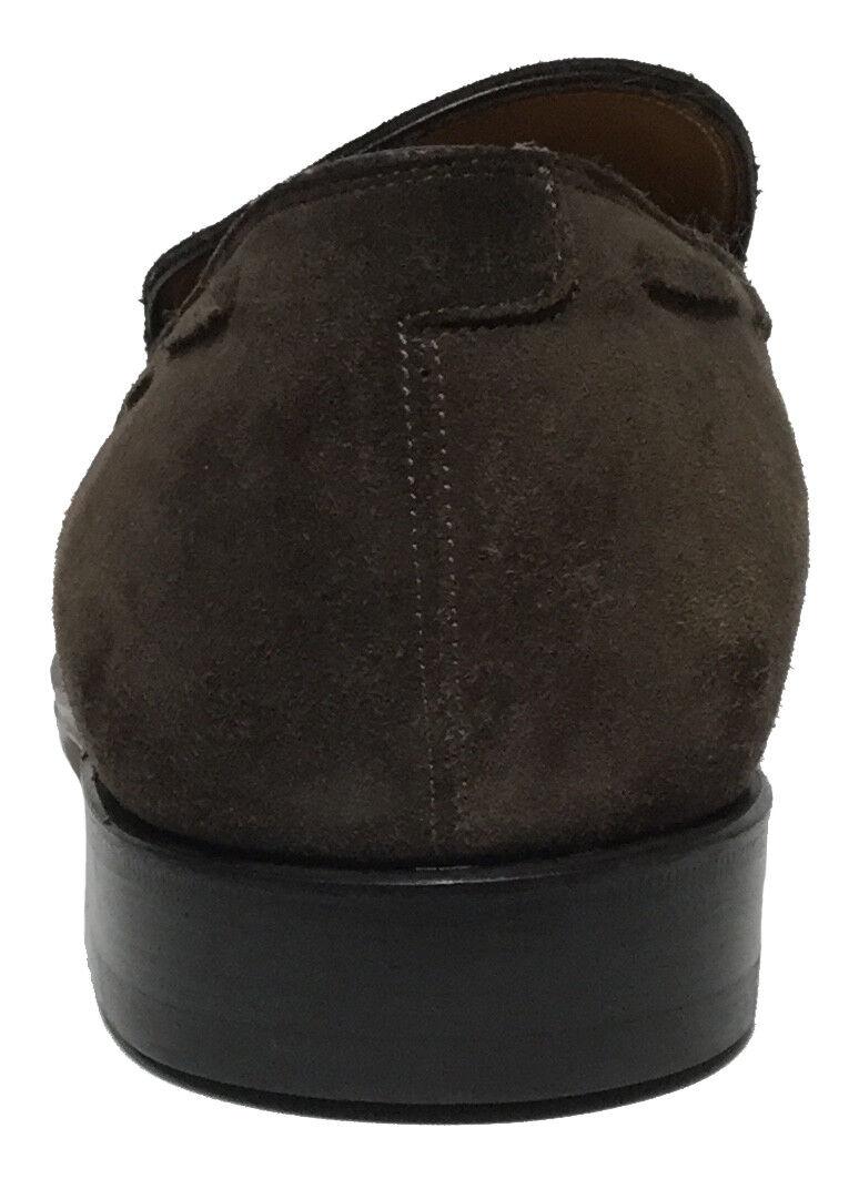 NIB Salvatore Ferragamo Suede Tramezza Loafer 10 Tassel Detail, Braun, Größe 10 Loafer EE 9e9bc3