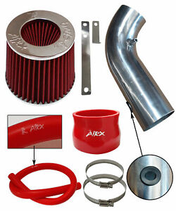 Black Red Air intake system Kit /& Filter For 1990-1997 Toyota Corolla 1.6 1.8 L4