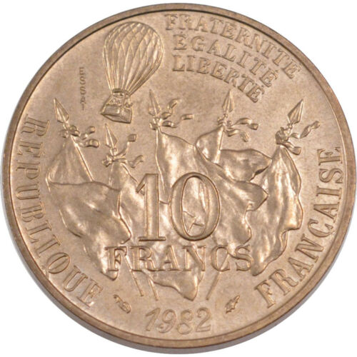 #200500 FRANCE, 10 Francs, 1982, KM #E122, MS6570, CopperNickel, 10.00
