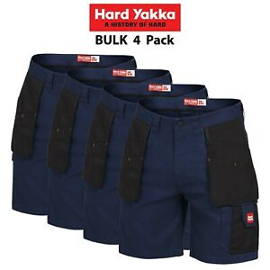 Mens-Hard-Yakka-Legends-Xtreme-Ex-Shorts-4PK-Cargo-Work-Ultimate-Tradie-Y05083
