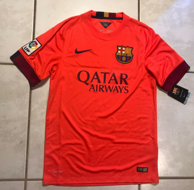 men nike fc barcelona away soccer jersey 2014 15 sz l bright crimson 610595 for sale online ebay visiontek co in