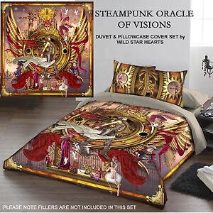 Set Per Letto Matrimoniale.Steampunk Oracle Di Visioni Set Copripiumino Per Letto