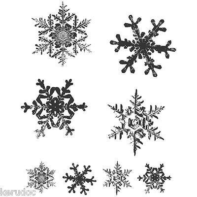 Tampons caoutchouc TIM HOLTZ GRUNGE FLAKES flocons de neige scrapbooking cartes