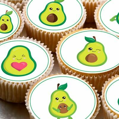 Surprising 24 Icing Fairy Cake Toppers Decorations Edible Super Cute Avocado Funny Birthday Cards Online Hendilapandamsfinfo