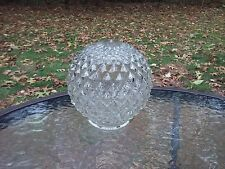 Light Globe Vintage Glass Shade Ceiling Lamp Fixture Cover Clear Diamond Cut