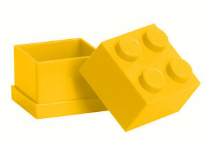 LEGO Storage MINI Snackbox 4 GELB perfeckt in Brotdose Schule Lunchbox YELLOW