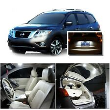 For Nissan Pathfinder 2013-2015 White LED Interior kit + White License Light LED