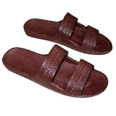 Brown Rubber Hawaiian Jesus Sandals, Surfware Hawaiian Classics