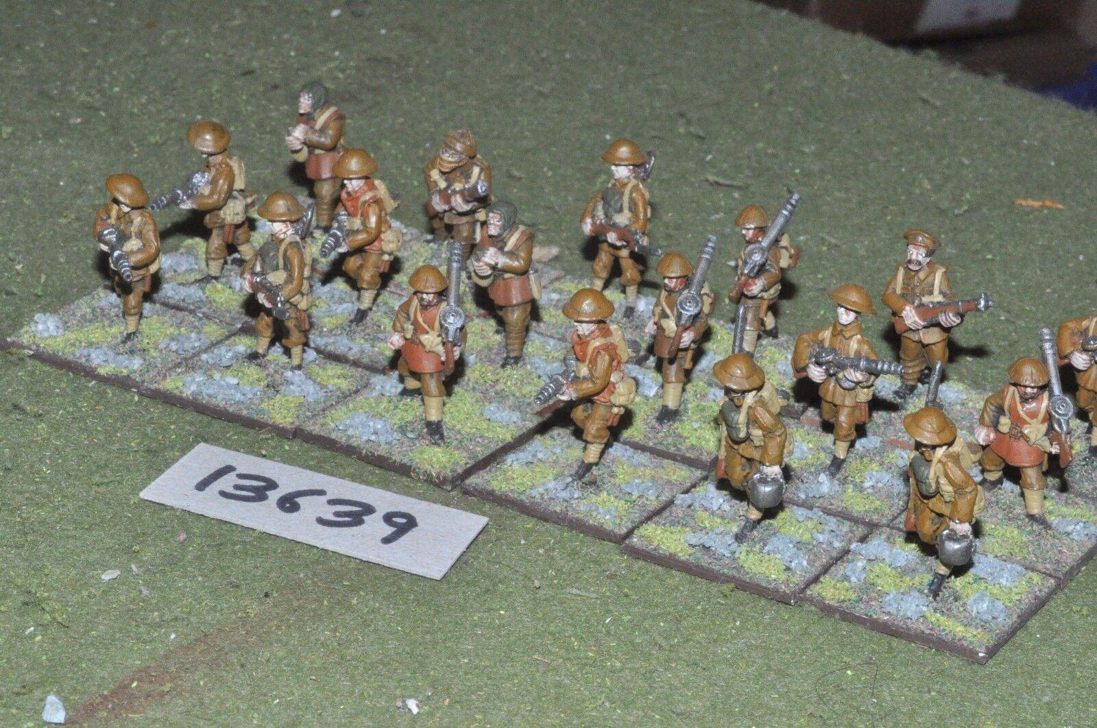 25mm WW1   british - infantry 18 figures - inf (13639)