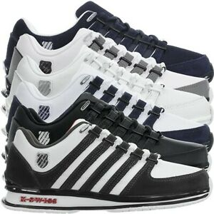 K-Swiss-Rinzler-SP-6-Farben-Herren-Leder-Low-Top-Sneakers-Freizeitschuhe-NEU