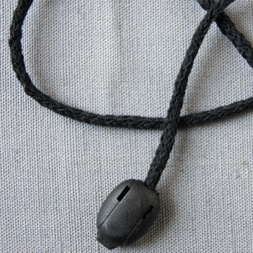 5m baumwollkordel cuerda perlas cuerda diámetro 3 mm negro