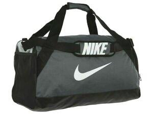 Details About Nike Brasilia 7 Medium Duffel Bag Gym Vacation Travel Ba5334 Gray Black White