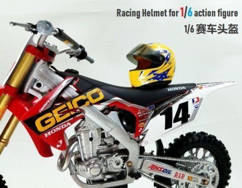 1//6 Scale Plastic Racing Helmet Scene Props Accessory Fit 12/'/' Action Figure