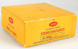NEW BOX OF TWENTY ALUMINUM EMDE STEREOMOUNTS