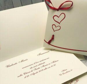 Ebay Partecipazioni Matrimonio.Partecipazioni Nozze Inviti Sposi Buonanno C010 Matrimonio Ebay