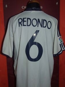 REDONDO-REAL-MADRID-2000-2001-MAGLIA-SHIRT-CALCIO-FOOTBALL-MAILLOT-JERSEY-SOCCER