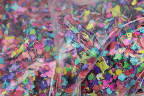 WHOLESALE Mexican Confetti 11 Oz Made From Recycled Paper Multicolor 25 BAGS