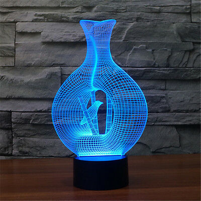 Bird in Cage 3D Lamp LED Desktop Night Light Atmosphere LED Touch-sensitive